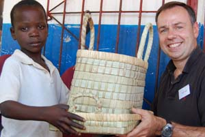 Sponsor child Peter from Zambia gives us a gift