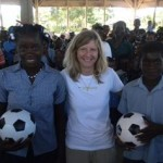 Local youth teams donate soccer balls to kids in Haiti