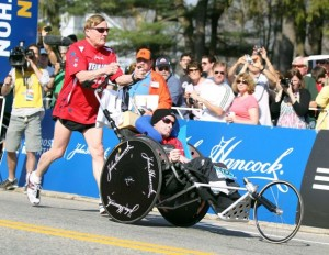 Yes They Did! Dick and Rick Hoyt Complete their 30th Boston Marathon